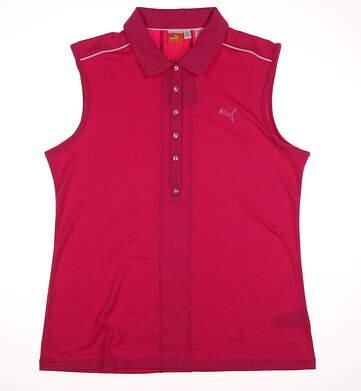 New Womens Puma Golf Tech Sleeveless Golf Polo X-Large XL Pink MSRP $65