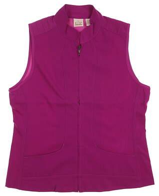 New Womens EP Pro Golf Monarchy Full Zip Vest Medium M Pink MSRP $105 6620BB