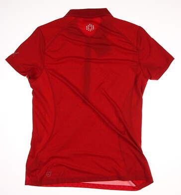 New Womens Puma Mini Graphic Golf Polo Large L Fiery Red/Virtual Pink MSRP $70