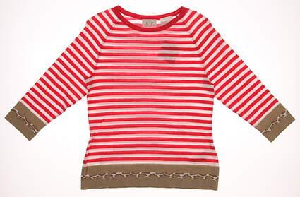 New Womens EP Pro Golf From Afar Stripe & Animal Jacquard Sweater Medium M Nectar Multi MSRP $98 4341HD