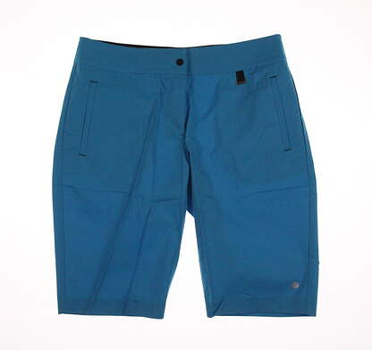 New Womens EP Pro Sport Fast Track Swift Welt Pocket Shorts Size 12 Tile Blue MSRP $93 7108SDA