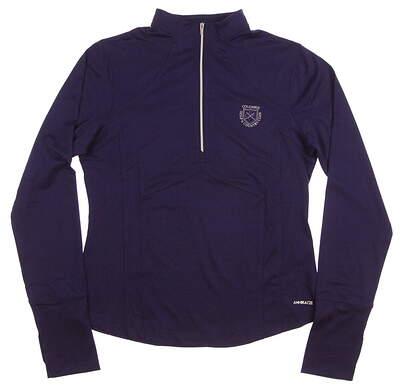 New Womens Cutter & Buck Annika Golf CB SunTec Rylie Mock 1/2 Zip Pullover Medium M Purple MSRP $80 LAK04402