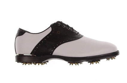 New Mens Golf Shoe Footjoy Icon Black Wide 10 White/Black MSRP $260