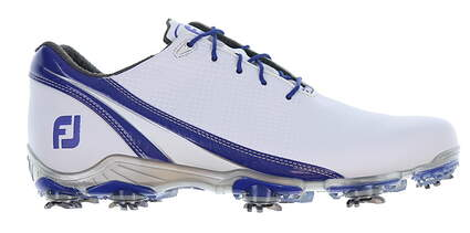 New Mens Golf Shoe Footjoy DNA Medium 10 White/Blue MSRP $200