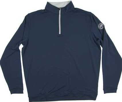 New W/ Logo Mens Peter Millar Golf 1/4 Zip Pullover X-Large XL Blue MSRP $98