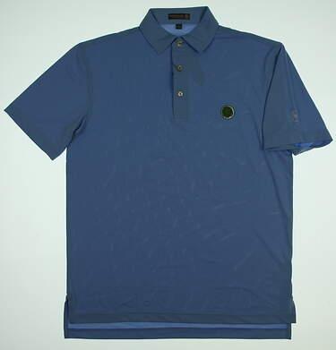 New W/ Logo Mens Peter Millar Golf Polo Medium M Blue MSRP $79