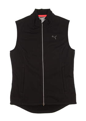 New Womens Puma PWRWARM Golf Wind Vest Small S Puma Black MSRP $85