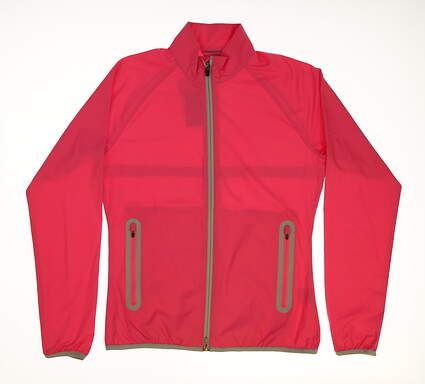 New Womens Puma Full Zip Wind Jacket Small S Pink MSRP $75