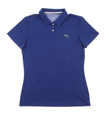 New Womens Puma Pounce Golf Polo Small S True Blue MSRP $50