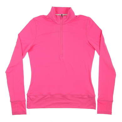 New Womens Puma 1/4 Zip Golf Pullover Small S Pink MSRP $65