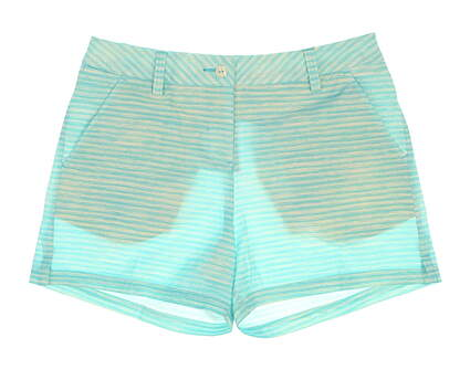 "New Womens Puma Printed 5"" Shorts Size 4 Blue Atoll MSRP $75"