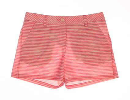 "New Womens Puma Printed 5"" Golf Shorts Size 4 Shocking Pink MSRP $75"