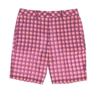 New Womens Puma Pattern Bermuda Golf Shorts Size 4 Royal Purple MSRP $70