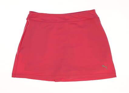 New Womens Puma Solid Knit Golf Skort Size Small S Shocking Pink MSRP $55
