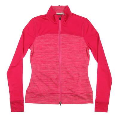 New Womens Puma Colorblock Full Zip Jacket Small S Bright Rose MSRP $80
