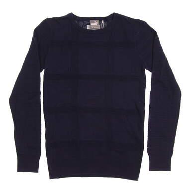 New Womens Puma Crew Neck Sweater Small S Peacoat MSRP $70