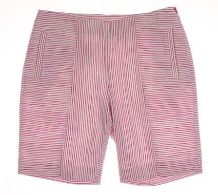 New Womens EP Pro Golf Mai Tai Mixed Stripe Shorts Size 6 Pink / White MSRP $84 8421IB