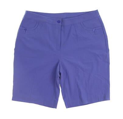 New Womens EP Pro Golf Amalfi Coast Stretch Micro Gab Shorts Size 10 Blue MSRP $84 8130FC
