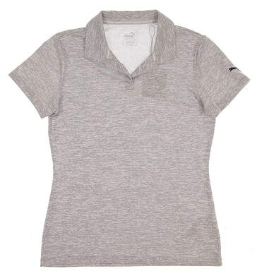 New Womens Puma Space Dye Golf Polo Small S Peacoat MSRP $55