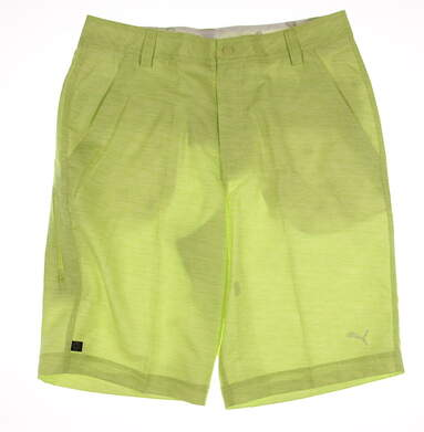 New Mens Puma Monolite Shorts Size 32 Lime Green MSRP $70