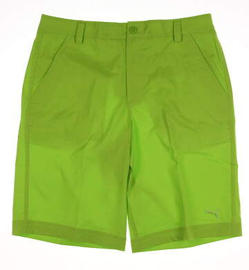 New Mens Puma Solid Tech Golf Shorts Size 32 Lime Green MSRP $70