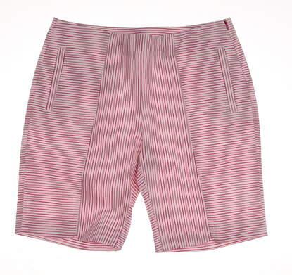 New Womens EP Pro Golf Mai Tai Mixed Stripe Shorts Size 8 Pink / White MSRP $84 8421IB