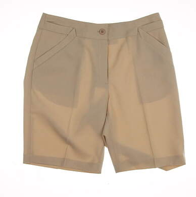 New Womens EP Pro Golf Monticello Shorts Size 8 Khaki (Rope) MSRP $84 8810DA
