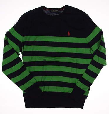 New Mens Ralph Lauren Golf Sweater Medium M Navy/Green MSRP $120