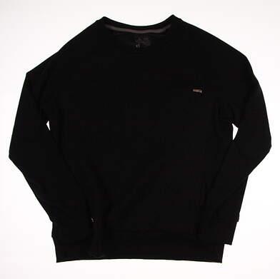 New W/ Logo Womens Adidas Golf Long Sleeve Crew Neck X-Large XL Black MSRP $65