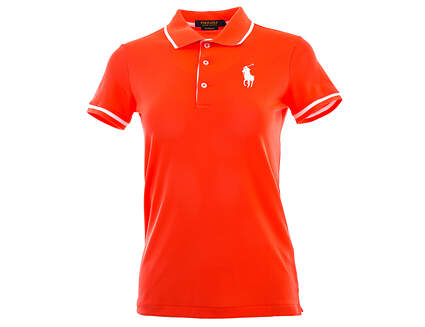 New Womens Ralph Lauren Golf Polo Large L Orange MSRP $95