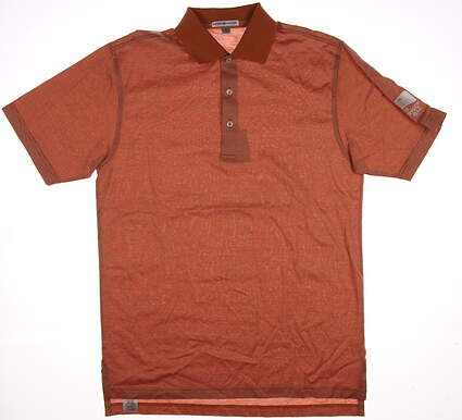 New W/ Logo Mens Peter Millar Golf Polo Small S Orange MSRP $90