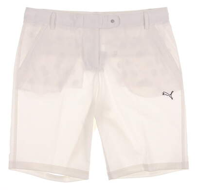 New Womens Puma Golf Solid Tech Shorts Size 8 White MSRP $60 567052 01