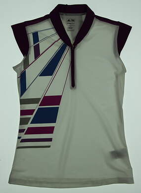 New Womens Adidas Golf Sleeveless Polo Small S Multi MSRP $65