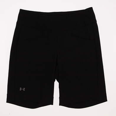 New Womens Under Armour Golf Essential Stretch Shorts Size Small S Black MSRP $70 UW 6670