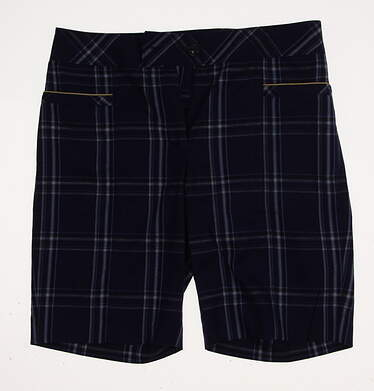 New Womens EP Pro Golf Kings Landing Plaid Shorts Size 6 Blue MSRP $84 8241GD