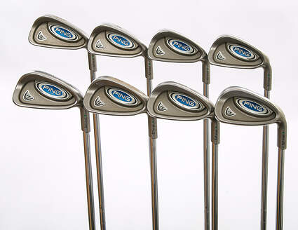 Ping i5 Iron Set 3-PW Stock Steel Shaft Steel Stiff Right Handed Green Dot 37.75 in