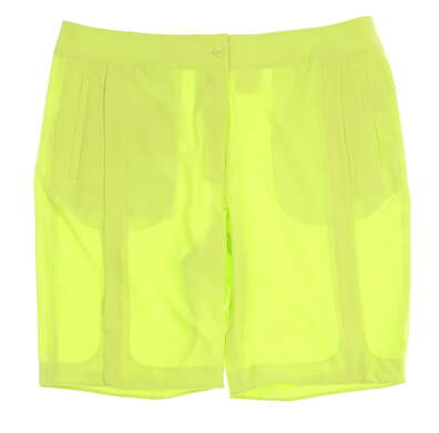 "New Womens EP Pro Golf Bellini Tour Tech Performance 20"" Solid Shorts Size 14 Green (Tequila Lime) MSRP $78 8530JC"