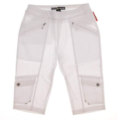 New Womens Jamie Sadock Knee Capris Size 6 White MSRP $110
