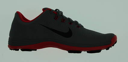 New Mens Golf Shoe Nike Lunar Cypress 11 Gray/Bright Crimson MSRP $230