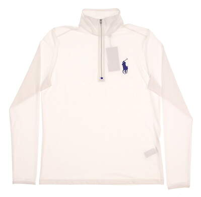 New Womens Ralph Lauren Polo Golf 1/4 Zip Pullover Large L White MSRP $115
