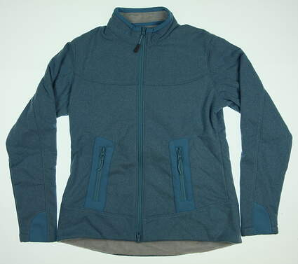 New Womens Peter Millar Cameron Fleece Golf Jacket Small S Wave MSRP $119.50