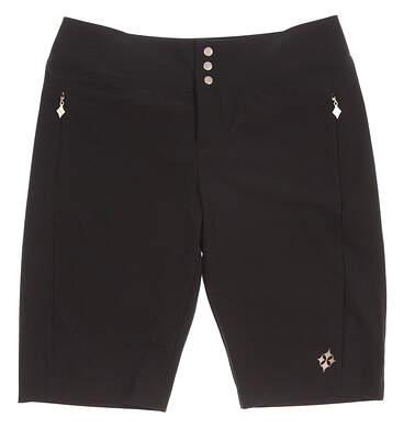 New Womens Jo Fit Woven Bermuda Shorts Size 6 Black MSRP $78 B011007
