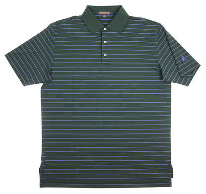 New W/ Logo Mens Peter Millar Golf Polo Large L Green MSRP $89