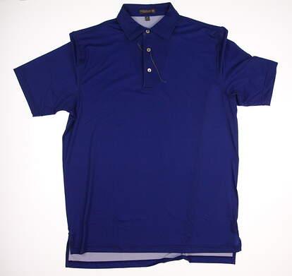 New W/ Logo Mens Peter Millar Golf Polo Medium M Blue MSRP $89