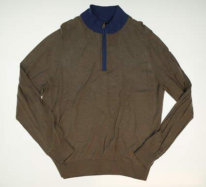 New W/ Logo Mens Fairway & Greene Kerouac 1/4 Zip Golf Sweater Large L Gray MSRP $183