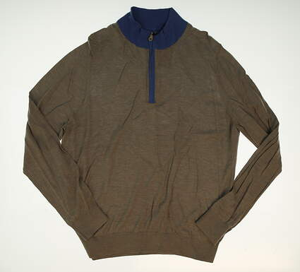 New W/ Logo Mens Fairway & Greene Golf 1/4 Zip Sweater X-Large XL Gray MSRP $183