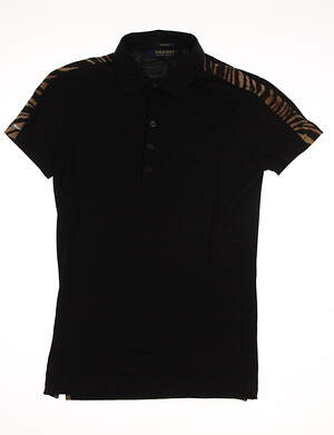 New Womens Ralph Lauren Polo Golf Tailored Fit Polo Small S Black MSRP $90