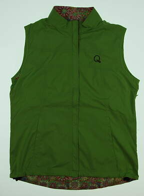 New W/ Logo Womens Peter Millar Morgan Golf Vest Medium M Green MSRP $130