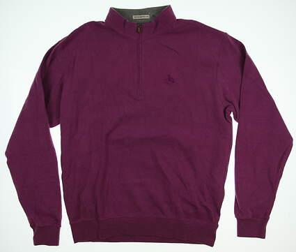 New W/ Logo Mens Peter Millar 1/4 Zip Golf Pullover Large L Purple MSRP $145