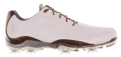 New Mens Golf Shoe Footjoy DNA Medium 10 White/Brown MSRP $200